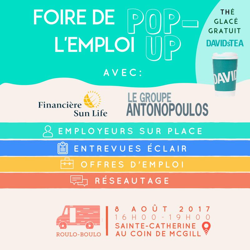 Image Foire de l'emploi POP-UP au Roulo-Boulo