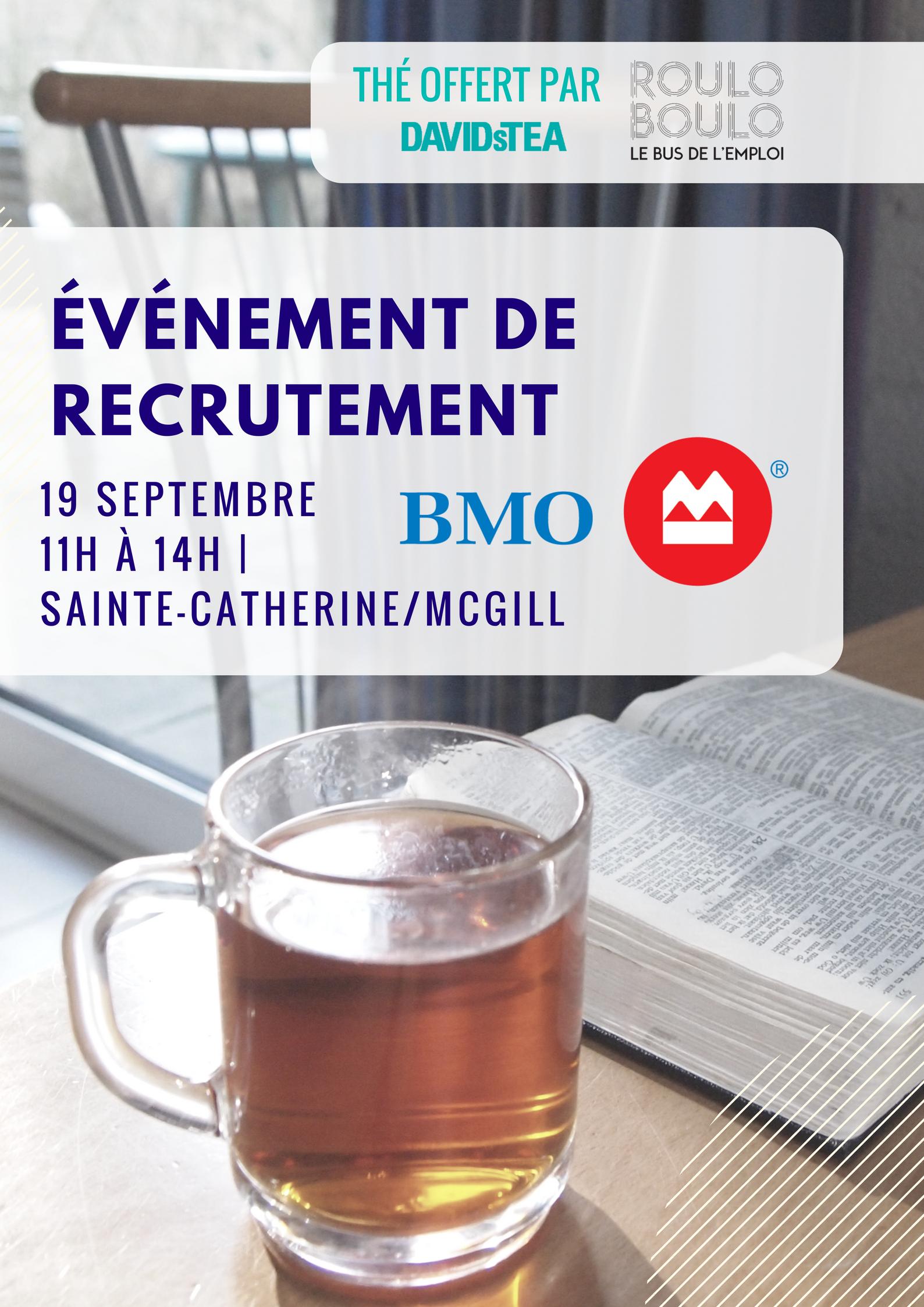 Image Événement de recrutement avec BMO