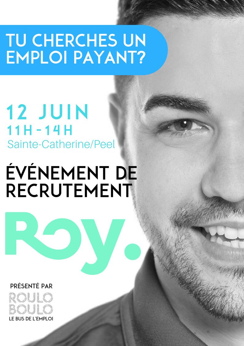 Image Événement de recrutement – ROY 12 Juin