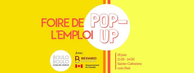 Image Foire de l`emploi Pop-Up!  19 Juin