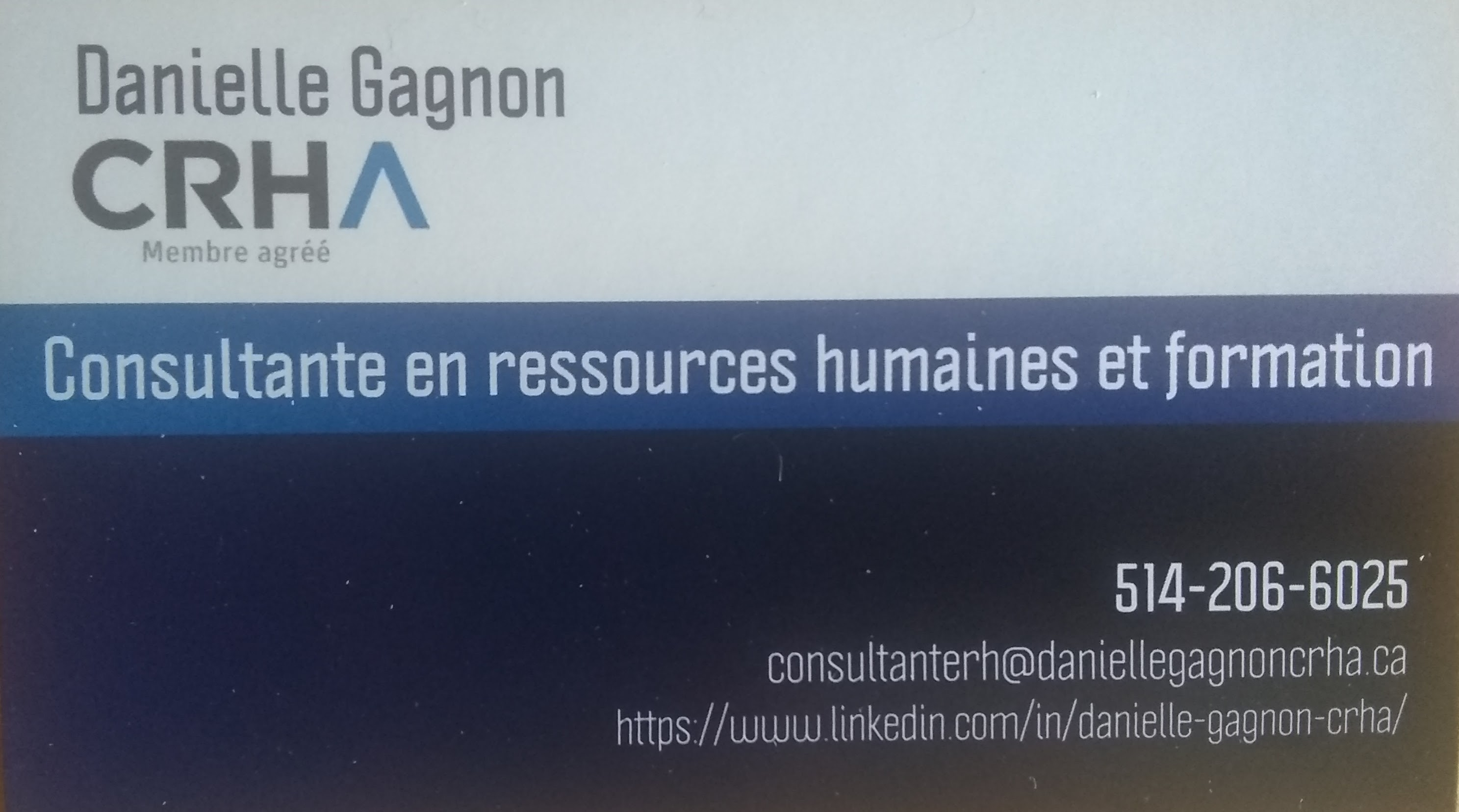 Logo Danielle Gagnon, CRHA, Consultante RH et formation