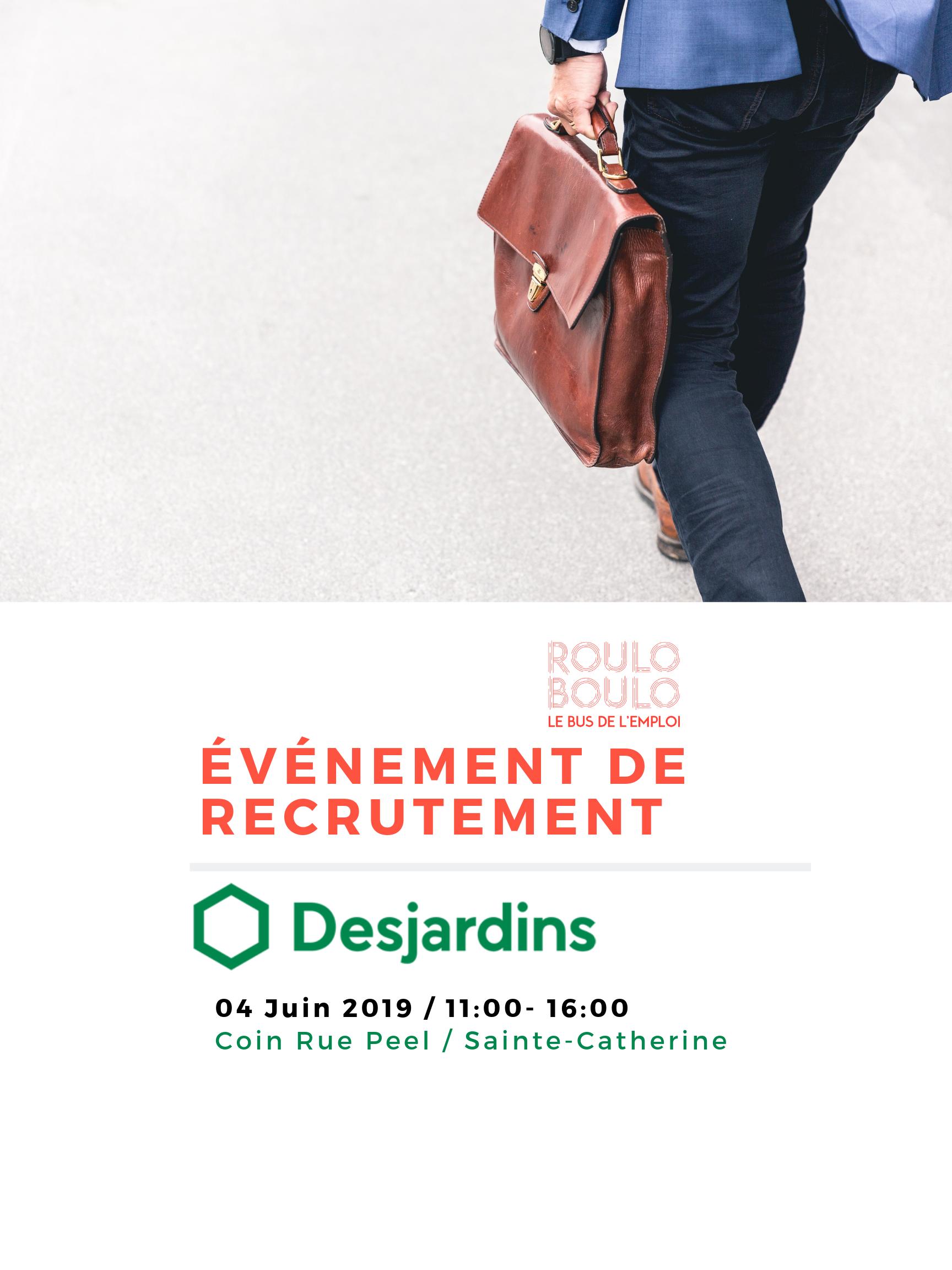 Image ÉVÉNEMENT  DE RECRUTEMENT DESJARDINS